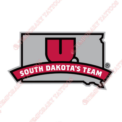 South Dakota Coyotes Customize Temporary Tattoos Stickers NO.6213
