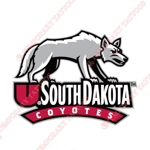 South Dakota Coyotes Customize Temporary Tattoos Stickers NO.6217