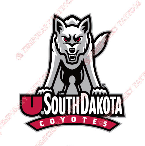 South Dakota Coyotes Customize Temporary Tattoos Stickers NO.6219
