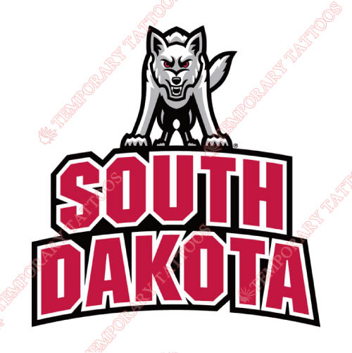 South Dakota Coyotes Customize Temporary Tattoos Stickers NO.6220