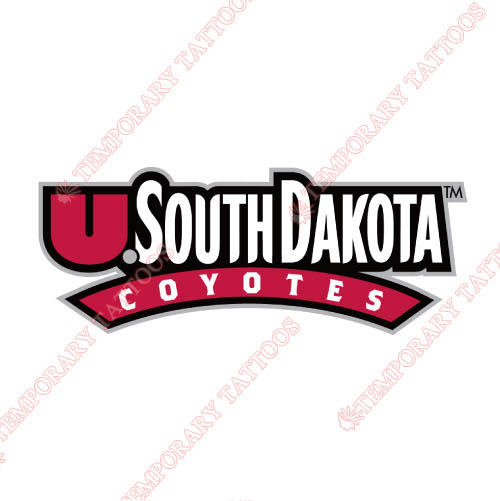 South Dakota Coyotes Customize Temporary Tattoos Stickers NO.6222