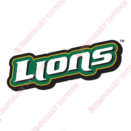 Southeastern Louisiana Lions Customize Temporary Tattoos Stickers NO.6249