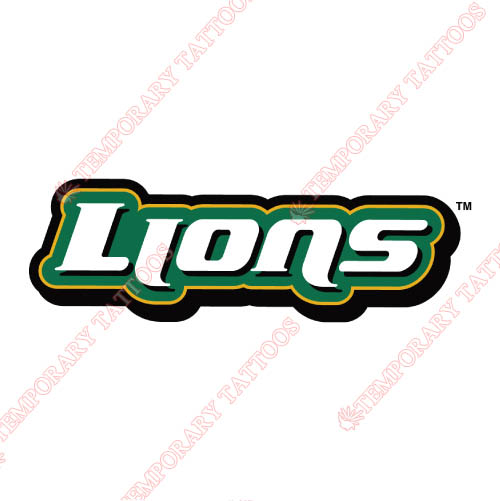 Southeastern Louisiana Lions Customize Temporary Tattoos Stickers NO.6252
