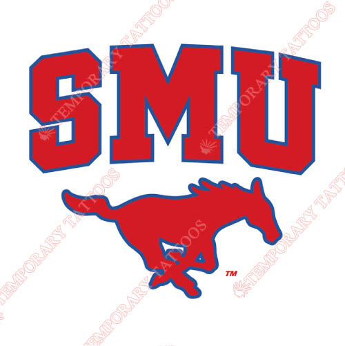 Southern Methodist Mustangs Customize Temporary Tattoos Stickers NO.6287