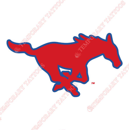Southern Methodist Mustangs Customize Temporary Tattoos Stickers NO.6291
