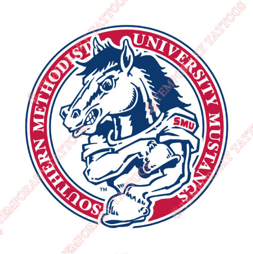 Southern Methodist Mustangs Customize Temporary Tattoos Stickers NO.6292