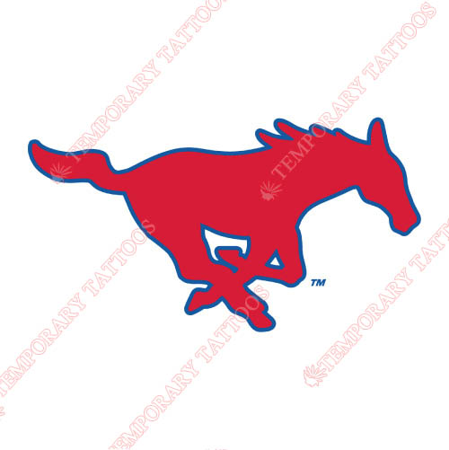 Southern Methodist Mustangs Customize Temporary Tattoos Stickers NO.6293