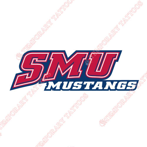 Southern Methodist Mustangs Customize Temporary Tattoos Stickers NO.6294
