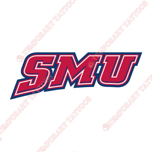 Southern Methodist Mustangs Customize Temporary Tattoos Stickers NO.6297