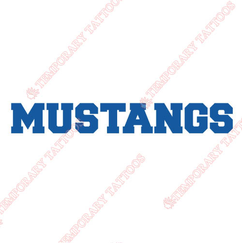Southern Methodist Mustangs Customize Temporary Tattoos Stickers NO.6299