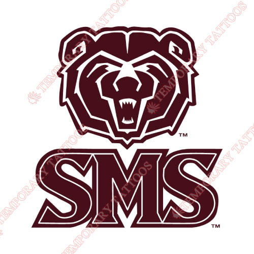 Southwest Missouri State Bears Customize Temporary Tattoos Stickers NO.6316