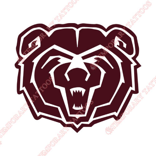 Southwest Missouri State Bears Customize Temporary Tattoos Stickers NO.6317