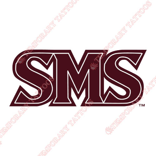 Southwest Missouri State Bears Customize Temporary Tattoos Stickers NO.6318