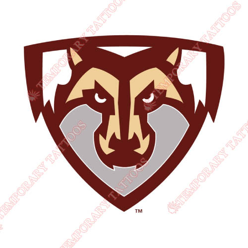 St. Bonaventure Bonnies Customize Temporary Tattoos Stickers NO.6319
