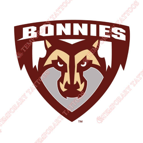 St. Bonaventure Bonnies Customize Temporary Tattoos Stickers NO.6320