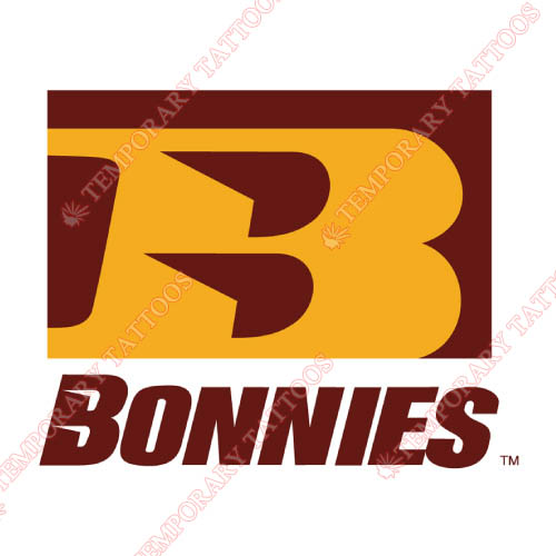 St. Bonaventure Bonnies Customize Temporary Tattoos Stickers NO.6321