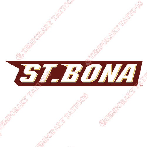 St. Bonaventure Bonnies Customize Temporary Tattoos Stickers NO.6325