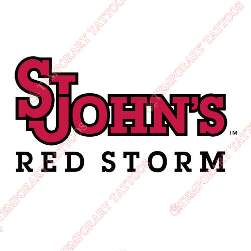 St. Johns Red Storm Customize Temporary Tattoos Stickers NO.6351
