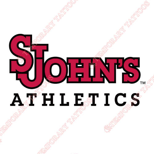 St. Johns Red Storm Customize Temporary Tattoos Stickers NO.6353