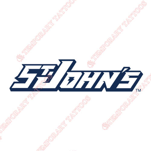 St. Johns Red Storm Customize Temporary Tattoos Stickers NO.6354