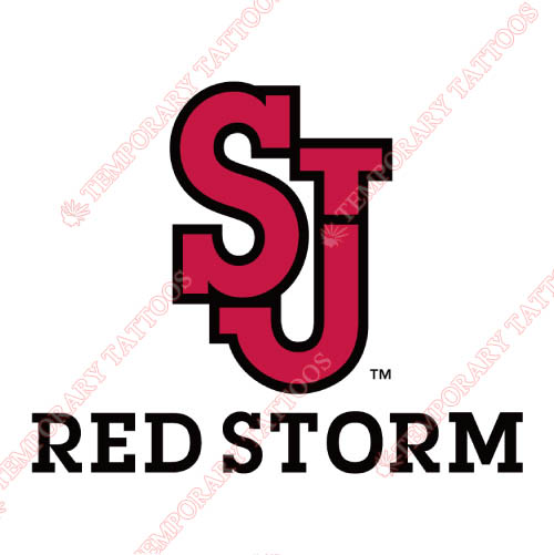 St. Johns Red Storm Customize Temporary Tattoos Stickers NO.6355