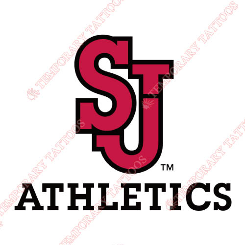 St. Johns Red Storm Customize Temporary Tattoos Stickers NO.6356