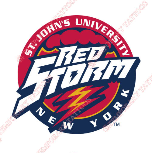 St. Johns Red Storm Customize Temporary Tattoos Stickers NO.6360