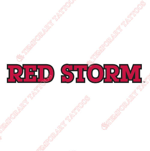 St. Johns Red Storm Customize Temporary Tattoos Stickers NO.6361