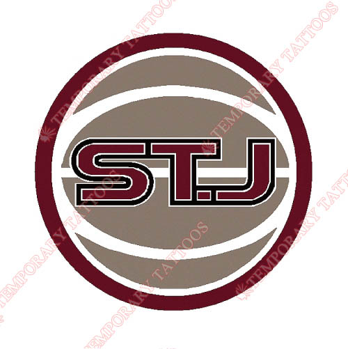 St. Johns Red Storm Customize Temporary Tattoos Stickers NO.6362