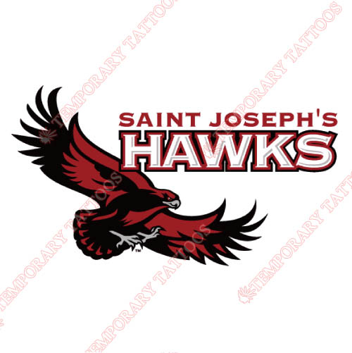 St. Josephs Hawks Customize Temporary Tattoos Stickers NO.6368