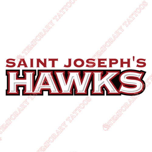 St. Josephs Hawks Customize Temporary Tattoos Stickers NO.6369