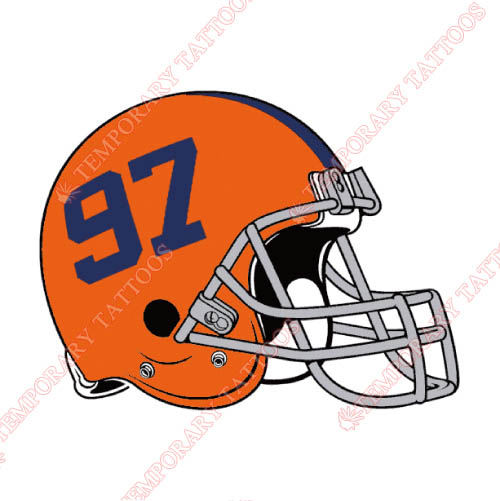 Syracuse Orange Customize Temporary Tattoos Stickers NO.6421