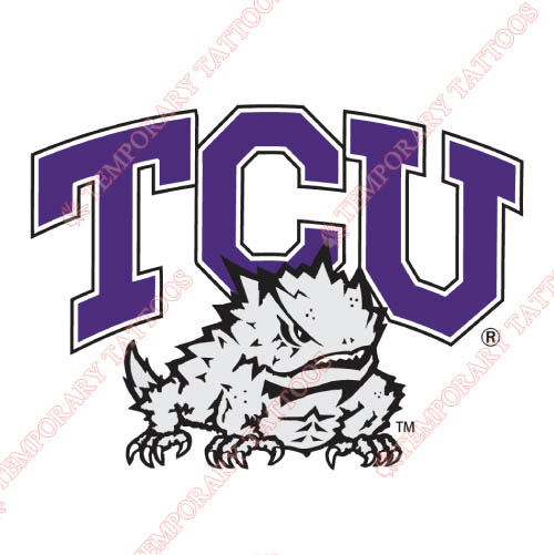 TCU Horned Frogs Customize Temporary Tattoos Stickers NO.6423