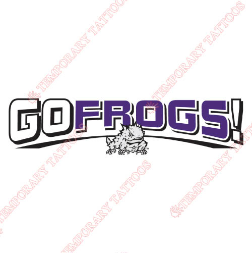 TCU Horned Frogs Customize Temporary Tattoos Stickers NO.6424