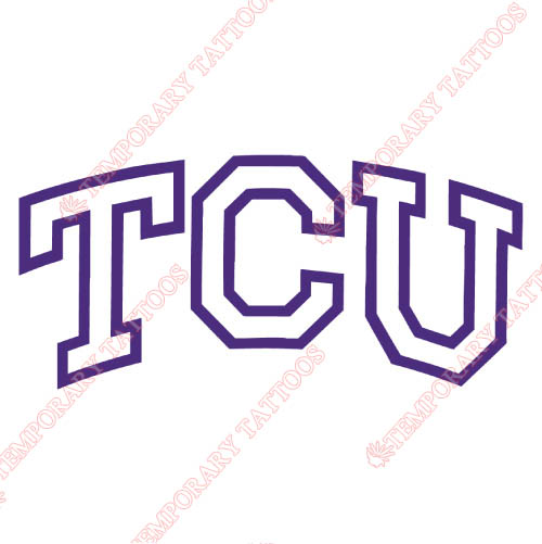 TCU Horned Frogs Customize Temporary Tattoos Stickers NO.6425
