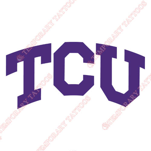 TCU Horned Frogs Customize Temporary Tattoos Stickers NO.6426
