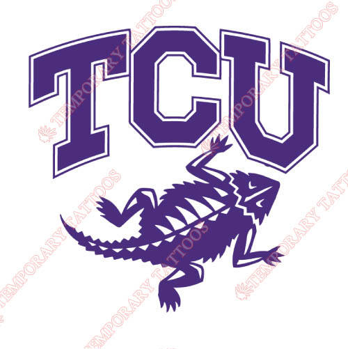TCU Horned Frogs Customize Temporary Tattoos Stickers NO.6427