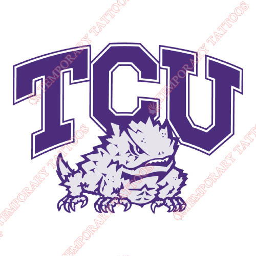 TCU Horned Frogs Customize Temporary Tattoos Stickers NO.6428