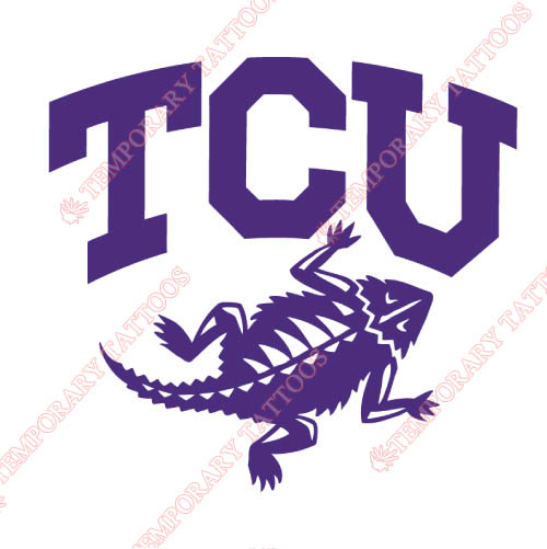 TCU Horned Frogs Customize Temporary Tattoos Stickers NO.6429