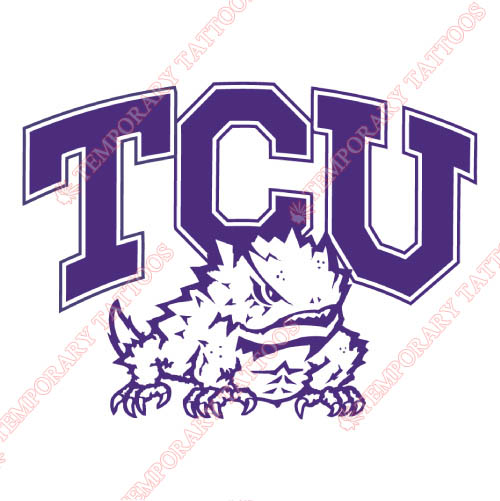 TCU Horned Frogs Customize Temporary Tattoos Stickers NO.6430