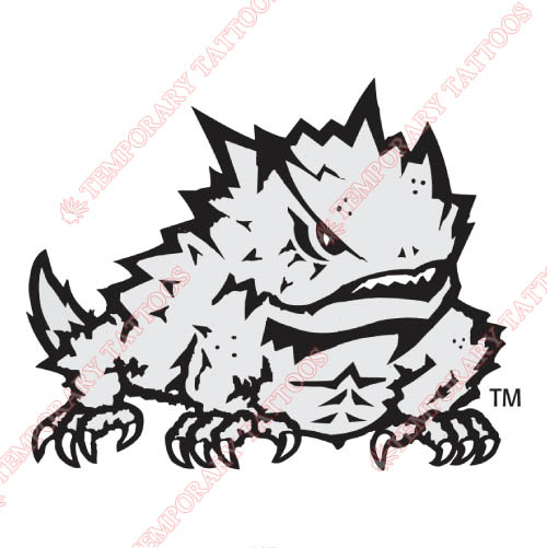 TCU Horned Frogs Customize Temporary Tattoos Stickers NO.6431