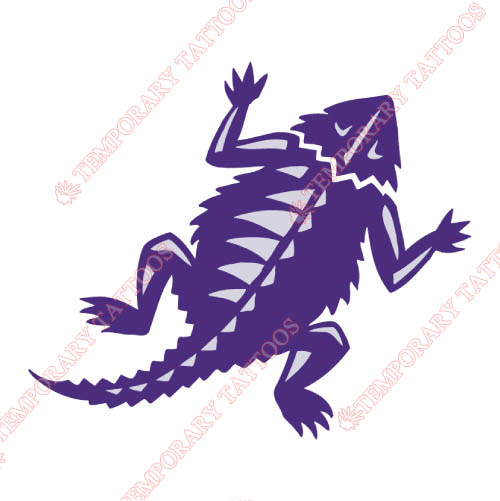 TCU Horned Frogs Customize Temporary Tattoos Stickers NO.6432