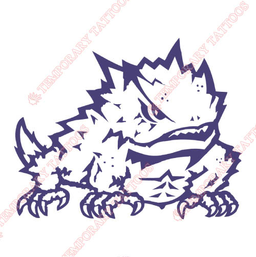 TCU Horned Frogs Customize Temporary Tattoos Stickers NO.6433
