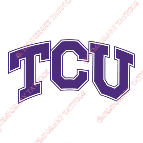 TCU Horned Frogs Customize Temporary Tattoos Stickers NO.6434