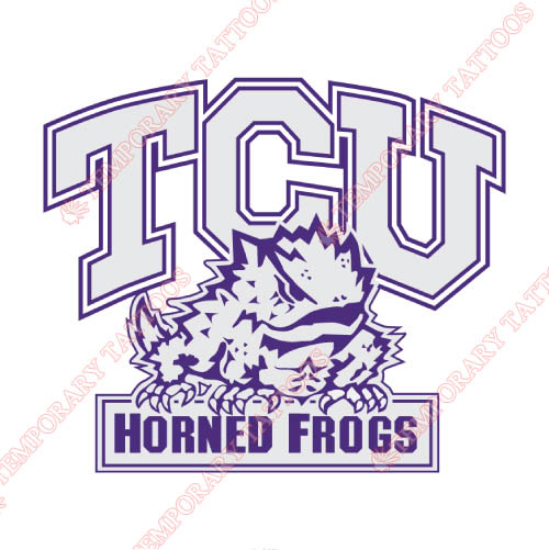 TCU Horned Frogs Customize Temporary Tattoos Stickers NO.6435