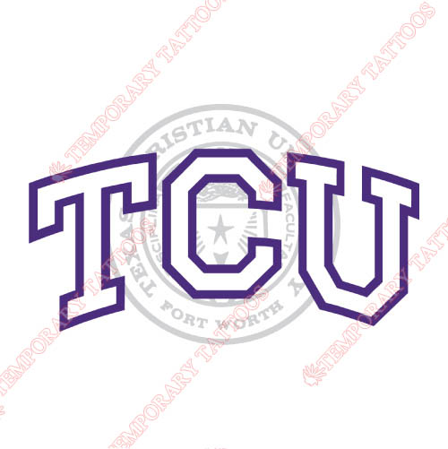 TCU Horned Frogs Customize Temporary Tattoos Stickers NO.6436