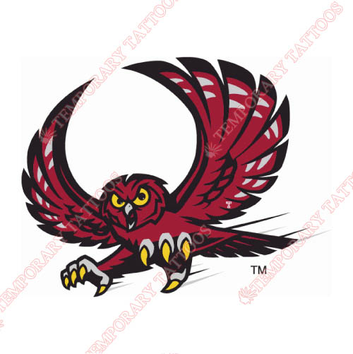 Temple Owls Customize Temporary Tattoos Stickers NO.6440