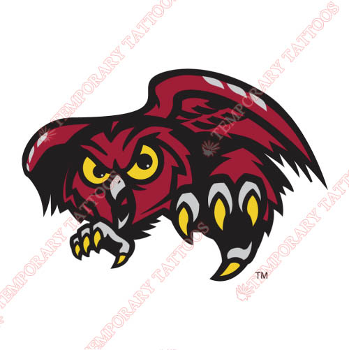 Temple Owls Customize Temporary Tattoos Stickers NO.6441