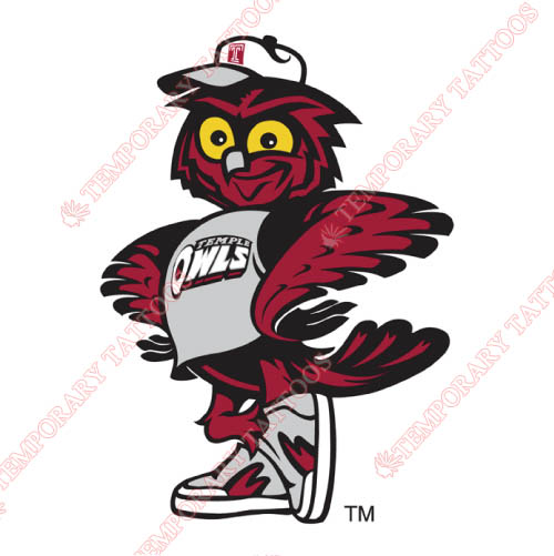 Temple Owls Customize Temporary Tattoos Stickers NO.6443