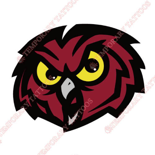 Temple Owls Customize Temporary Tattoos Stickers NO.6444
